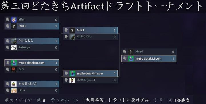 Artifactのトーナメント機能が神でした。どたきちArtifactトーナメント第一回~三回までやってみた感想