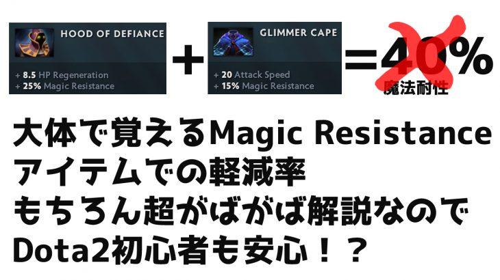 初心者向け【ArmorとMagic Resistanceのお話】
