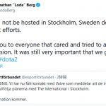 スウェーデンでのThe International 10開催はなくなりました、さぁどこでやろっか。